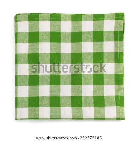 cloth napkin isolated on white background - stock photo