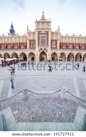 Cloth's Hall on the market square of royal Krakow, Poland - stock photo
