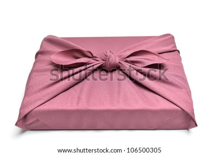 Cloth Wrapper isolated on a white background. - stock photo
