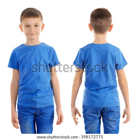 Kids t shirt stock images royalty free images vectors Boy white t shirt