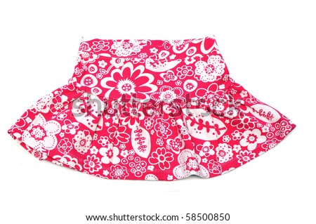 clothes: child's skirt over the white background