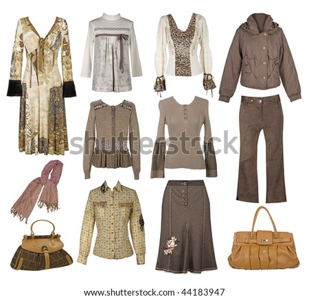 clothes collection - stock photo