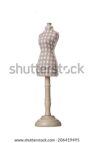 Clothes dummy isolated on the white - stock photo