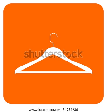 CLOTHES HANGER ICON. - stock photo