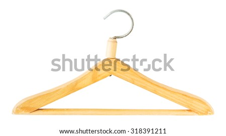 clothes hanger isolated on a white background