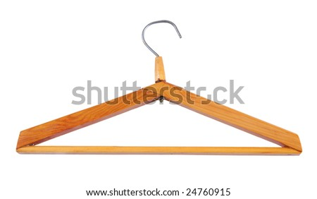clothes hanger isolated on white background with clipping path