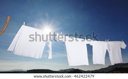 clothes-line laundry
