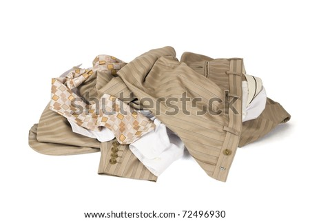 Clothes lots isolated on white