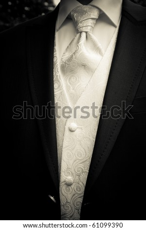 clothes of the groom - stock photo
