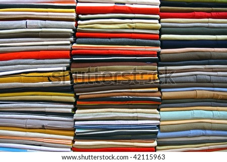 clothes on each other - stock photo