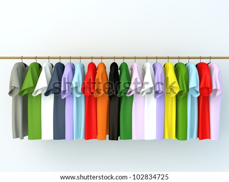 clothes on hangers - stock photo