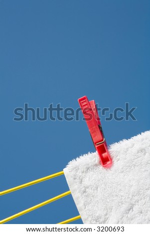 Clothes peg - stock photo