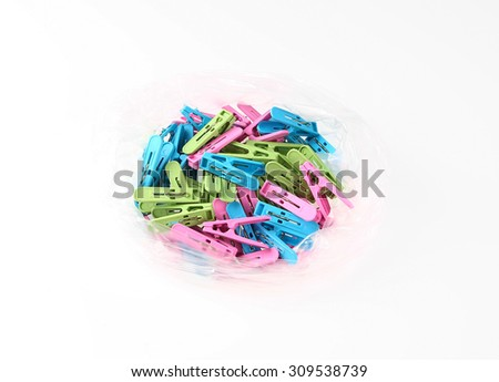 Clothes peg isolated on a white background.