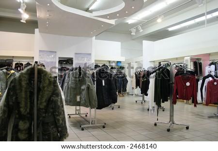 clothes shop - stock photo