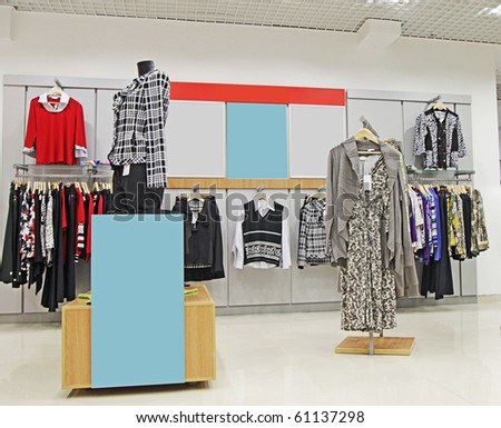 clothes store - stock photo