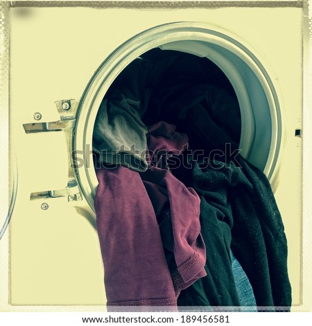 clothes washer - stock photo