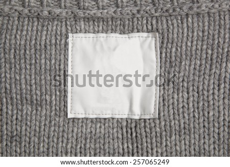 clothes with label tag - stock photo