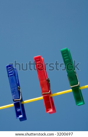 Clothespins - stock photo
