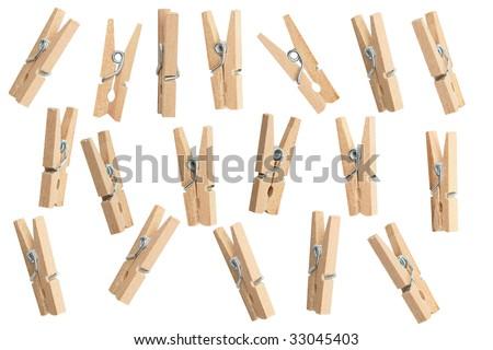 Clothespins - stock photo