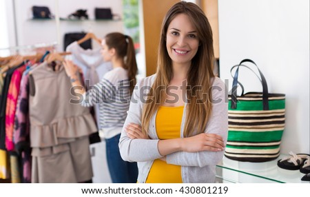 Clothing boutique  - stock photo