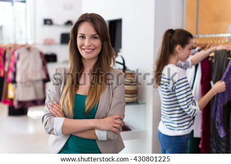 Clothing boutique  - stock photo
