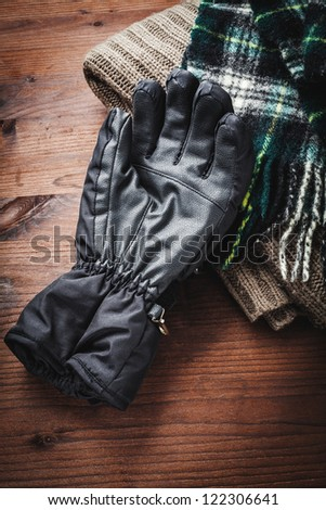 clothing for winter - stock photo