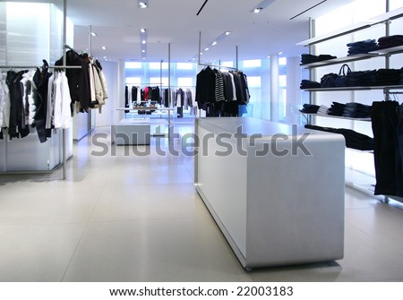 Clothing in store - stock photo