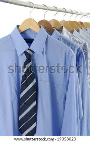 Clothing on a suit Hangers