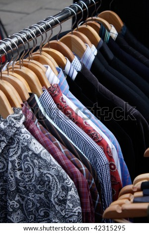 Clothing rack - stock photo