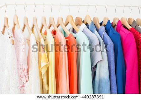 Clothing rack - stock photo
