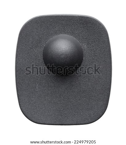 Clothing Security Tag on a white background - stock photo