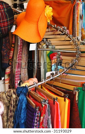 Clothing store. No brandnames or copyright objects. - stock photo