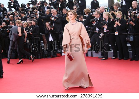 Clotilde Courau attends the opening ceremony and 'La Tete Haute' premiere during the 68th annual Cannes Film Festival on May 13, 2015 in Cannes, France. - stock photo