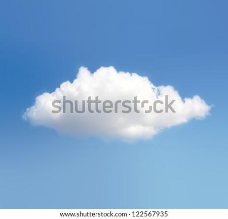 Cloud Against The Blue Sky - stock photo