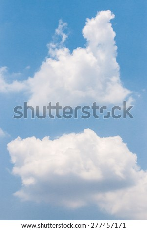 cloud and blue sky - stock photo