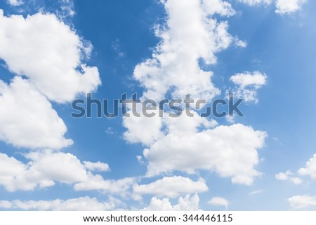 Cloud and blue sky background at sunshine