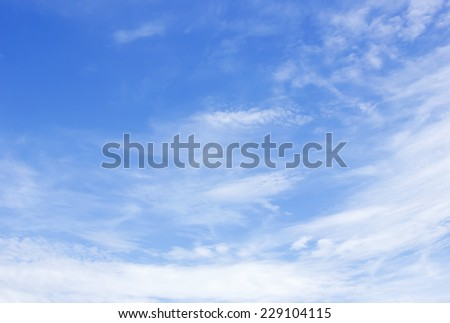Cloud and blue sky for background textured - stock photo