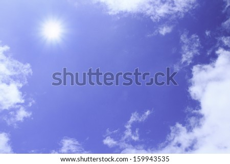 Cloud and blue sky on daytime - stock photo