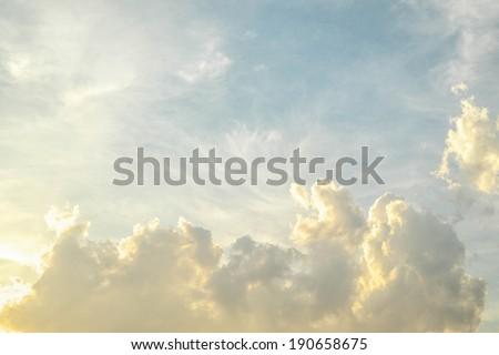 cloud and evening sky - stock photo