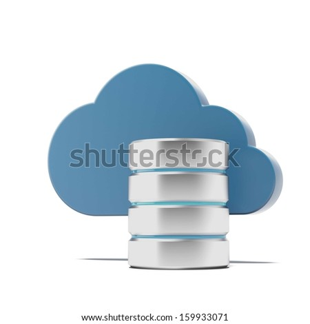 Cloud and remote data storage - stock photo