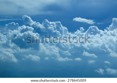 cloud and sky - stock photo