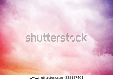 cloud and sky on sweet gradient color with grunge texture - stock photo