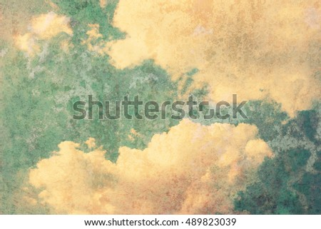 Cloud and sky with a vintage background