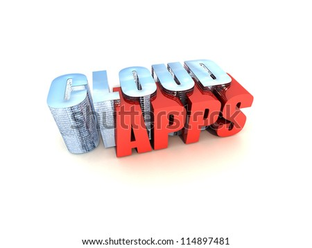 Cloud Apps - stock photo