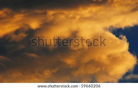 Cloud at sunset - stock photo