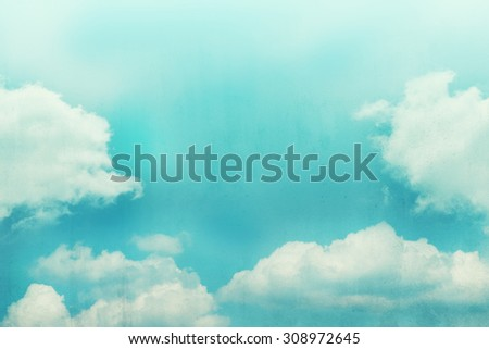 cloud background with gradient colour and grunge texture  - stock photo