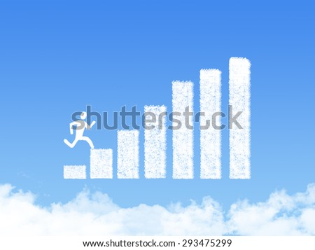 Cloud bar chart. Success in business concept - stock photo