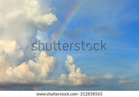 cloud blue sky background cloudy texture rainbow. - stock photo