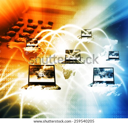 Cloud Computer network - stock photo