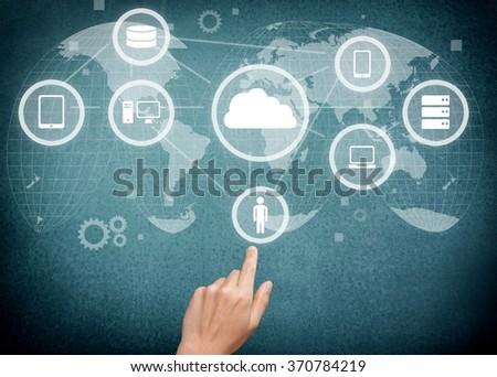 Cloud Computing. - stock photo